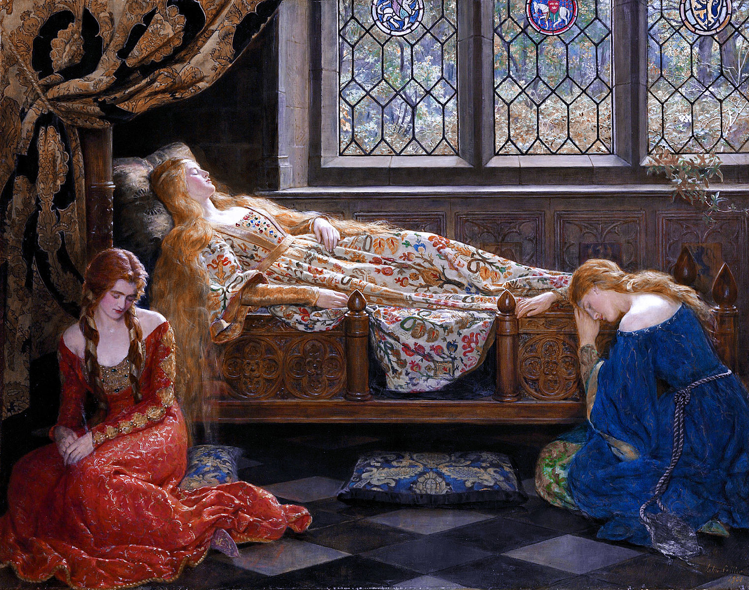 The_sleeping_beauty_by_John_Collier_1